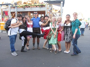 Students celebrating Oktoberfest